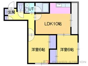 札幌市白石区南郷通20丁目南0賃貸マンション間取図面