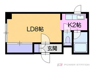 南郷7丁目1Kマンション図面