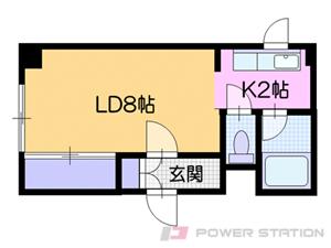 札幌市白石区栄通7丁目0賃貸マンション間取図面