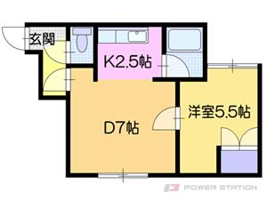 南郷13丁目1LDKアパート図面