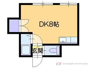 札幌市白石区東札幌4条3丁目0分譲リースマンション間取図面