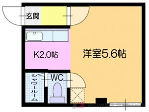 札幌市白石区菊水3条2丁目0賃貸マンション間取図面