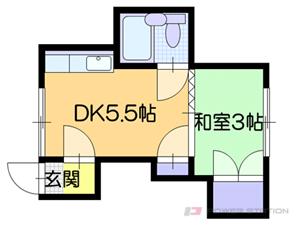札幌市白石区東札幌6条5丁目0賃貸アパート間取図面