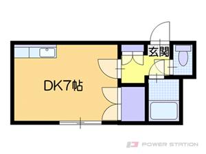 札幌市白石区栄通5丁目0賃貸アパート間取図面