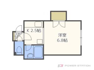 菊水1Kアパート図面