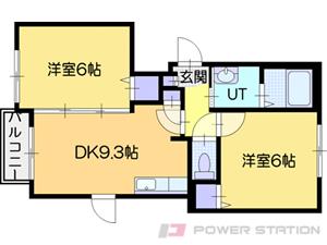 厚別2DKアパート図面