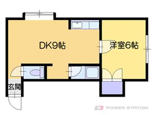 白石1DKマンション図面