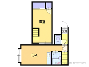白石1Kアパート図面