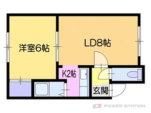 白石1LDKアパート図面