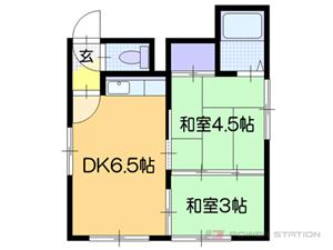 南郷7丁目2DKアパート図面