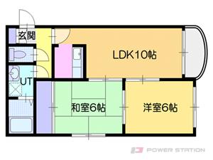 白石2LDKマンション図面