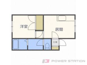 平和1DKアパート図面