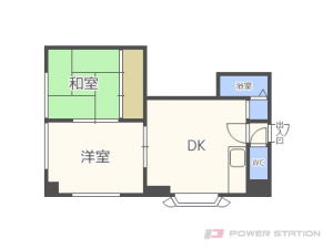 平和2DKアパート図面