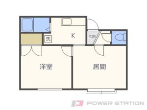 菊水1DKアパート図面