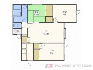 菊水3LDKアパート図面