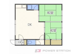 白石2DKアパート図面