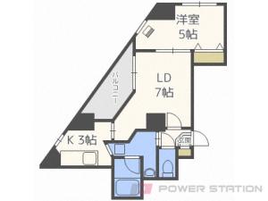 白石1LDKマンション図面