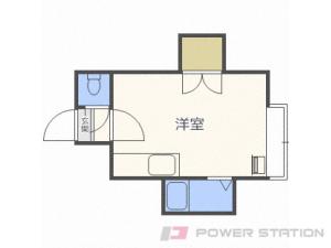 東札幌1Rアパート図面