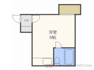 札幌市白石区本通3丁目南1賃貸アパート間取図面