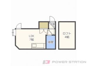 札幌市白石区南郷通6丁目北0賃貸アパート間取図面