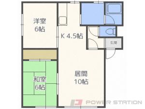 平和2LDKアパート図面