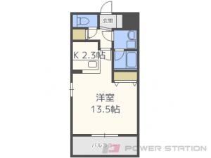 菊水1Kマンション図面