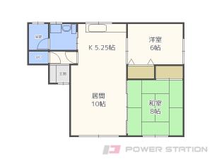 白石2LDKアパート図面