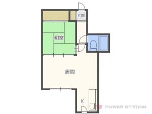 札幌市豊平区豊平1条1丁目1賃貸マンション間取図面