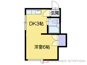 札幌市豊平区豊平1条1丁目0賃貸マンション間取図面