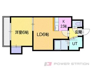 札幌市豊平区豊平1条2丁目0賃貸マンション間取図面