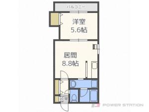 札幌市豊平区豊平2条1丁目1賃貸マンション間取図面