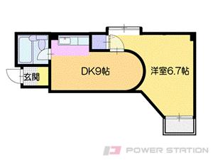 札幌市豊平区豊平2条1丁目0賃貸マンション間取図面