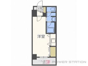 南平岸1Kマンション図面