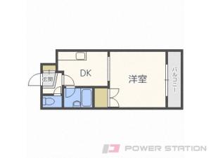 札幌市豊平区水車町1丁目1賃貸マンション間取図面