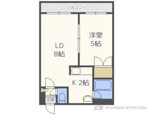 札幌市豊平区豊平4条2丁目0賃貸マンション間取図面