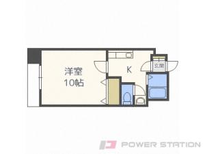 札幌市豊平区豊平4条3丁目0賃貸マンション間取図面