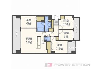 札幌市豊平区平岸1条10丁目0分譲リースマンション間取図面