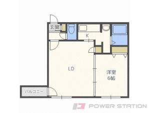札幌市豊平区平岸1条12丁目0賃貸マンション間取図面