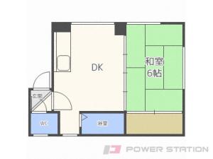 札幌市豊平区豊平2条6丁目0賃貸アパート間取図面