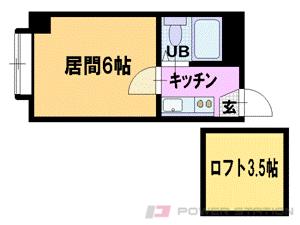 札幌市豊平区豊平5条5丁目0賃貸マンション間取図面