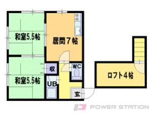 札幌市豊平区旭町3丁目0賃貸アパート間取図面