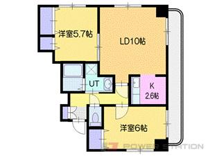 札幌市豊平区豊平4条9丁目0賃貸マンション間取図面