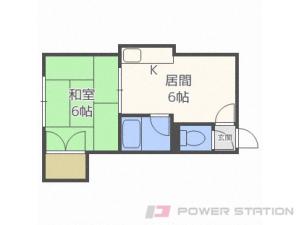 札幌市豊平区水車町7丁目0賃貸アパート間取図面