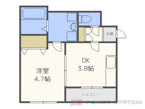 札幌市豊平区豊平3条9丁目0賃貸マンション間取図面