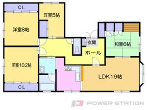 白石4LDKマンション図面