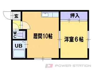 札幌市豊平区平岸1条1丁目0賃貸アパート間取図面