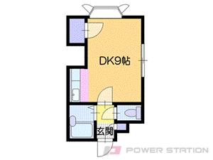 札幌市豊平区平岸1条2丁目1賃貸アパート間取図面