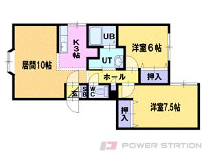 札幌市豊平区平岸1条2丁目1賃貸マンション間取図面