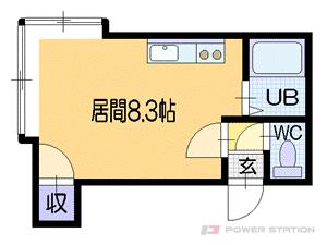 札幌市豊平区旭町5丁目0賃貸アパート間取図面