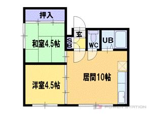 札幌市豊平区旭町7丁目0賃貸アパート間取図面